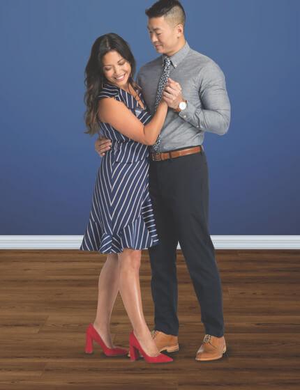 Couple dancing on floor | Gillenwater Flooring