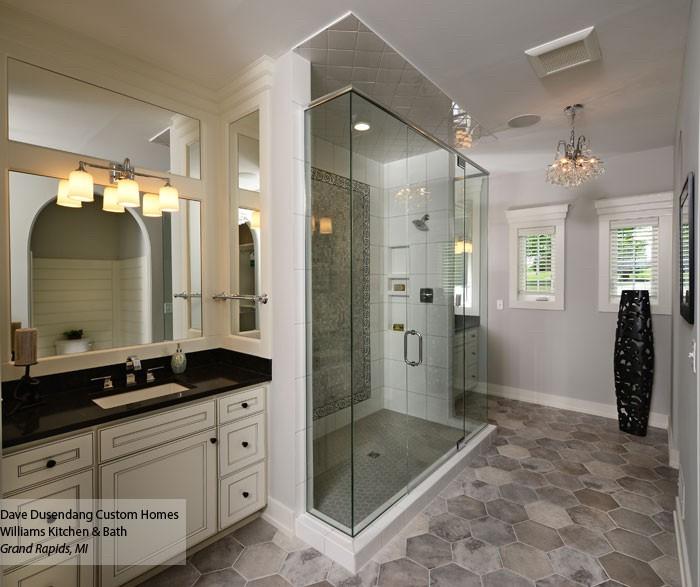 White bathroom vanities | Gillenwater Flooring