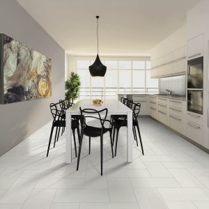 Dining room Tile flooring | Gillenwater Flooring