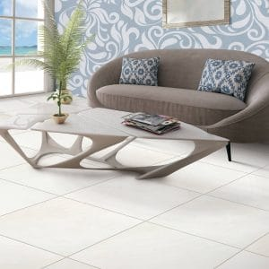 Tile in living room | Gillenwater Flooring