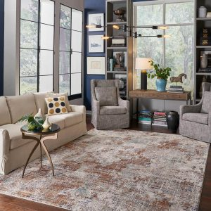 Area Rug in living room | Gillenwater Flooring
